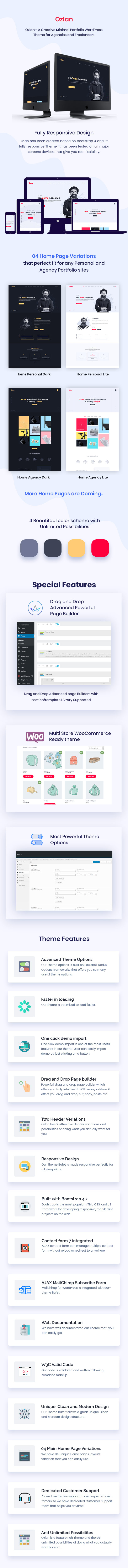 Ozlan - A Creative Minimal Portfolio WordPress Theme for Agencies and Freelancers