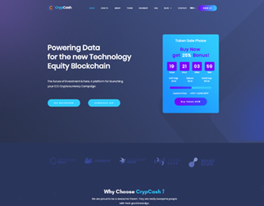 Ccico bitcoin and cryptocurrency html landing page