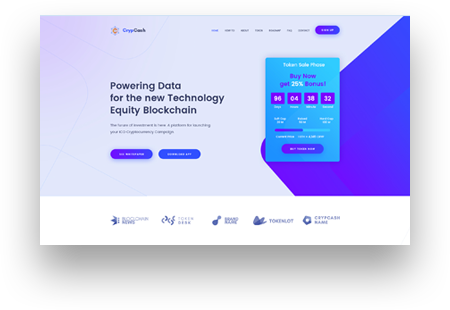 Crypterio ico and cryptocurrency wp theme